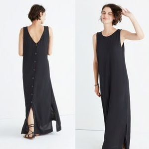 Madewell Lakeshore Button Back Maxi Dress Black M